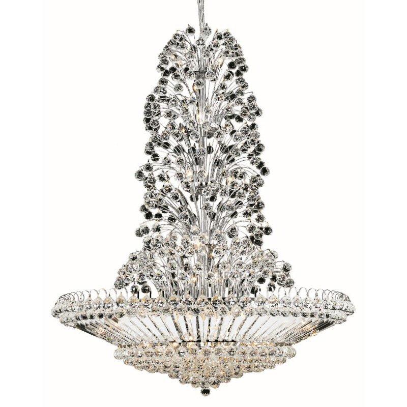 Elegant Lighting Value 2 Sirius 43 Light Chrome Chandelier Clear Elegant Cut Crystal (V2908G48C/EC)