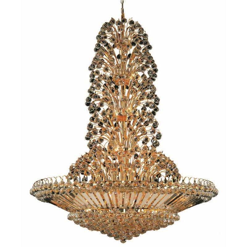 Elegant Lighting Value 2 Sirius 43 Light Gold Chandelier Clear Elegant Cut Crystal (V2908G48G/EC)