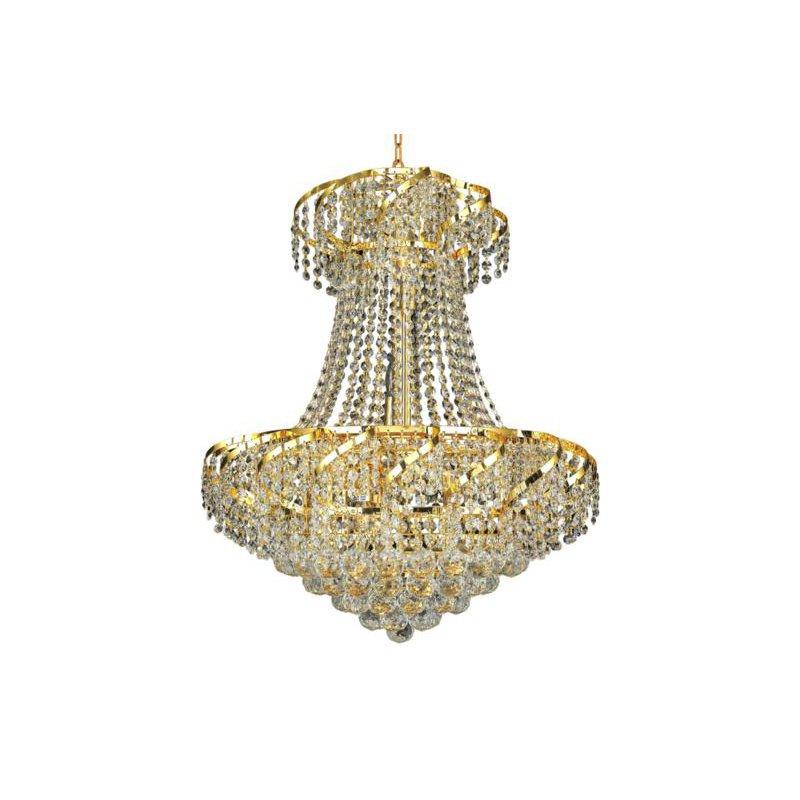 Elegant Lighting Value Belenus 11 Light Gold Chandelier Clear Royal Cut Crystal (VECA1D22G/RC)