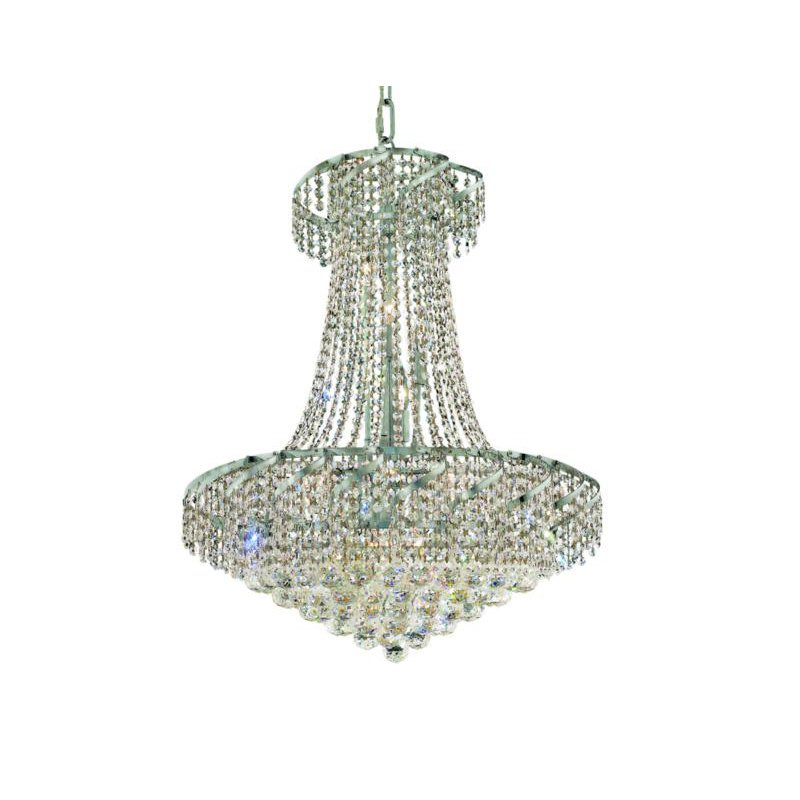 Elegant Lighting Value Belenus 15 Light Chrome Chandelier Clear Swarovski Elements Crystal (VECA1D26C/SS)