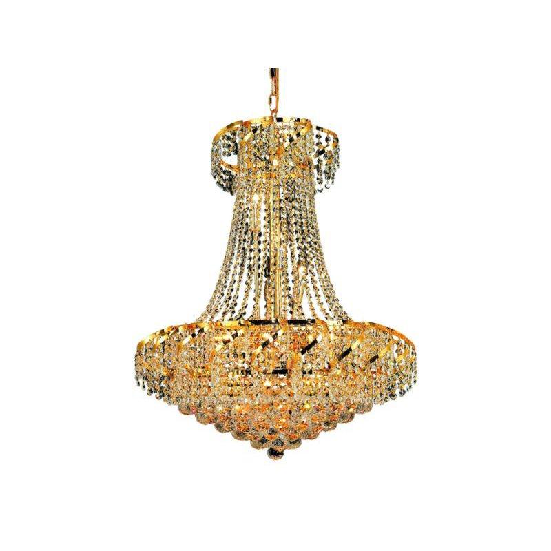 Elegant Lighting Value Belenus 15 Light Gold Chandelier Clear Royal Cut Crystal (VECA1D26G/RC)