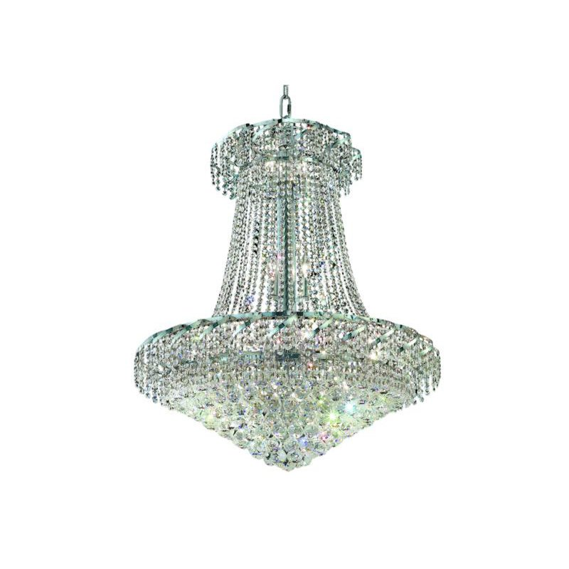 Elegant Lighting Value Belenus 18 Light Chrome Chandelier Clear Spectra Swarovski Crystal (VECA1D30C/SA)