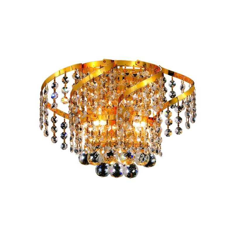 Elegant Lighting Value Belenus 2 Light Gold Wall Sconce Clear Elegant Cut Crystal (VECA1W12G/EC)