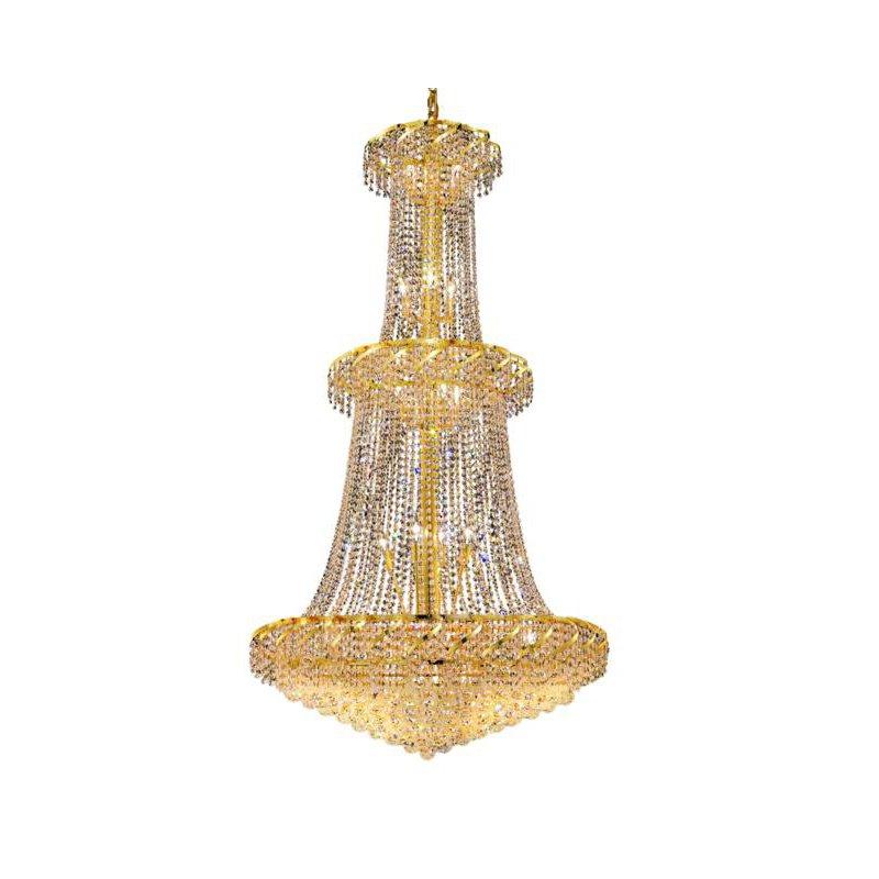 Elegant Lighting Value Belenus 32 Light Gold Chandelier Clear Elegant Cut Crystal (VECA1G36G/EC)