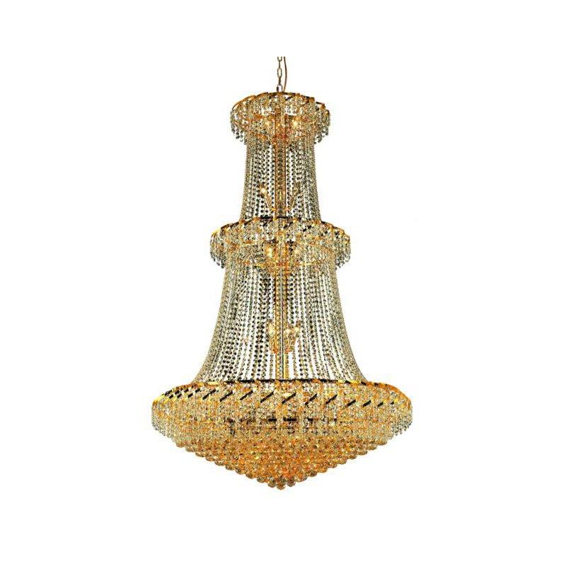 Elegant Lighting Value Belenus 32 Light Gold Chandelier Clear Spectra Swarovski Crystal (VECA1G42G/SA)