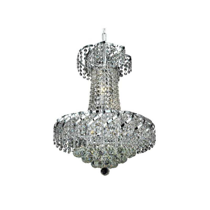Elegant Lighting Value Belenus 6 Light Chrome Pendant Clear Swarovski Elements Crystal (VECA1D18C/SS)