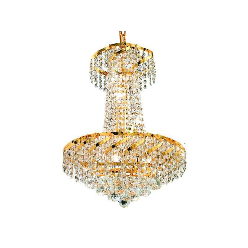 Elegant Lighting Value Belenus 6 Light Gold Pendant Clear Swarovski Elements Crystal (VECA1D18G/SS)