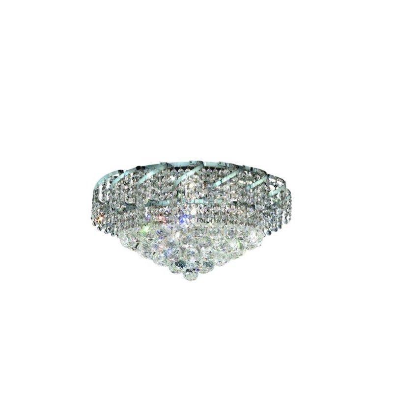 Elegant Lighting Value Belenus 8 Light Chrome Flush Mount Clear Spectra Swarovski Crystal (VECA1F20C/SA)