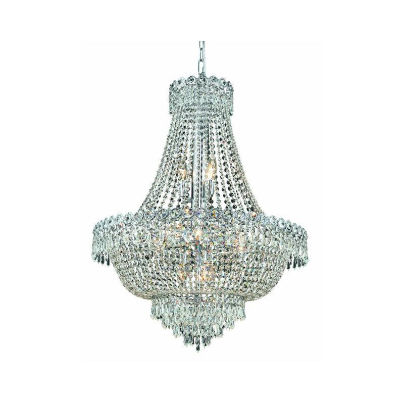 Elegant Lighting Value Century 12 Light Chrome Chandelier Clear Royal Cut Crystal (V1900D24C/RC)