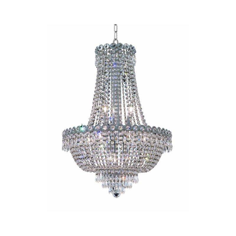 Elegant Lighting Value Century 12 Light Chrome Chandelier Clear Spectra Swarovski Crystal (V1900D20C/SA)