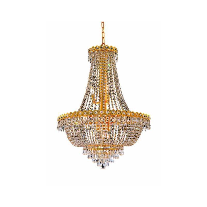 Elegant Lighting Value Century 12 Light Gold Chandelier Clear Swarovski Elements Crystal (V1900D24G/SS)