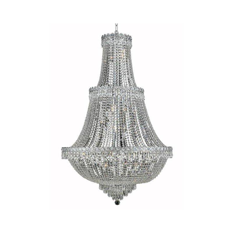 Elegant Lighting Value Century 17 Light Chrome Chandelier Clear Elegant Cut Crystal (V1900G30C/EC)