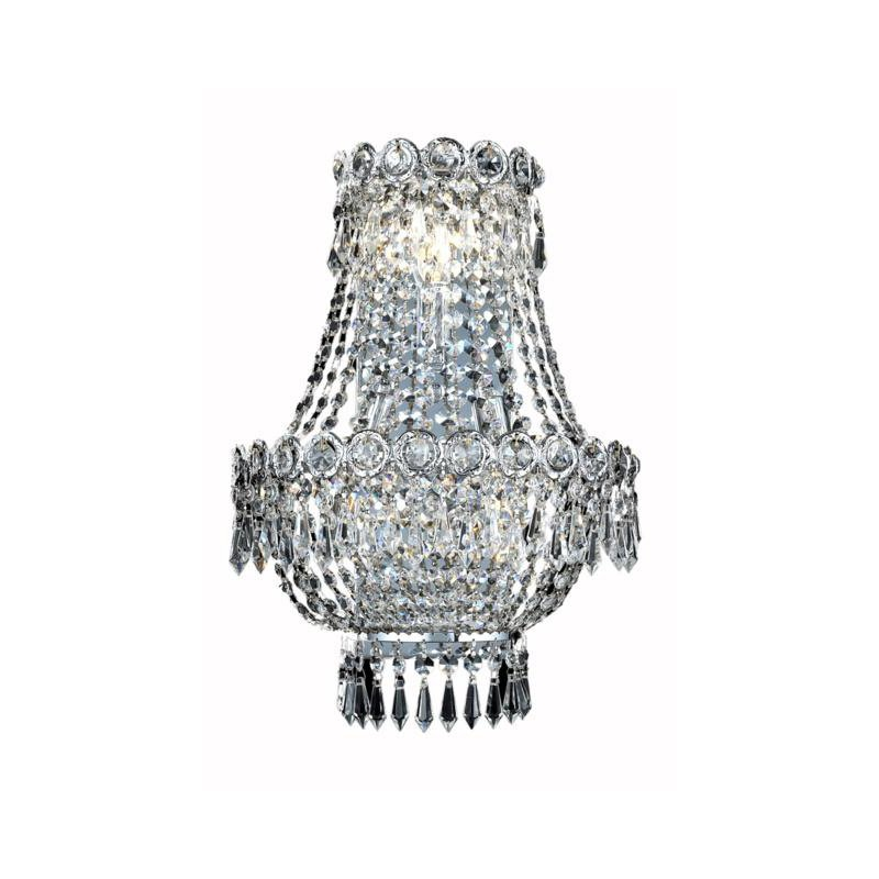 Elegant Lighting Value Century 3 Light Chrome Wall Sconce Clear Spectra Swarovski Crystal (V1900W12SC/SA)