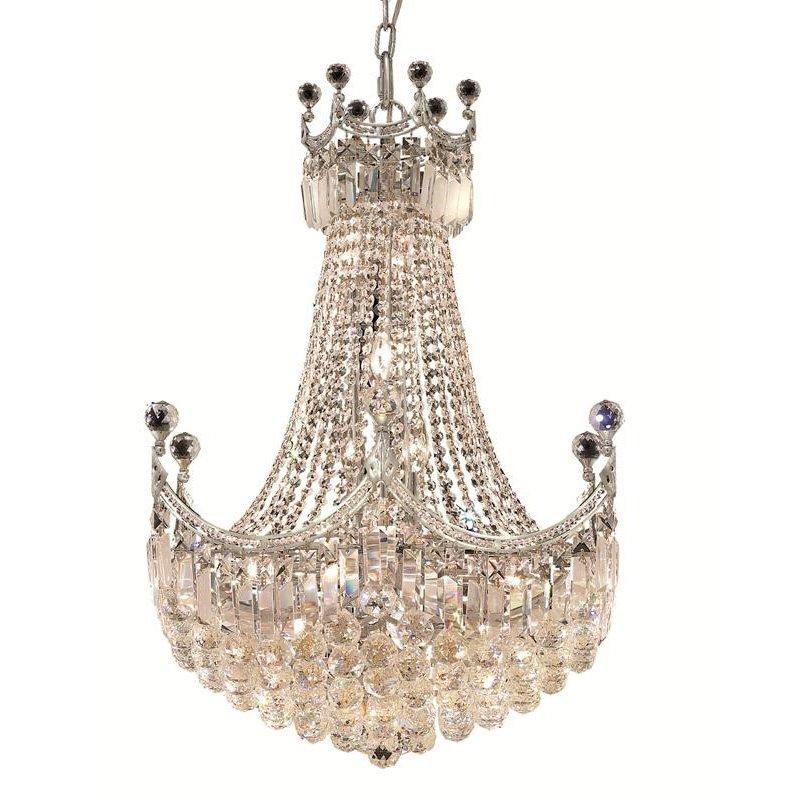 Elegant Lighting Value Corona 18 Light Chrome Chandelier Clear Elegant Cut Crystal (V8949D24C/EC)