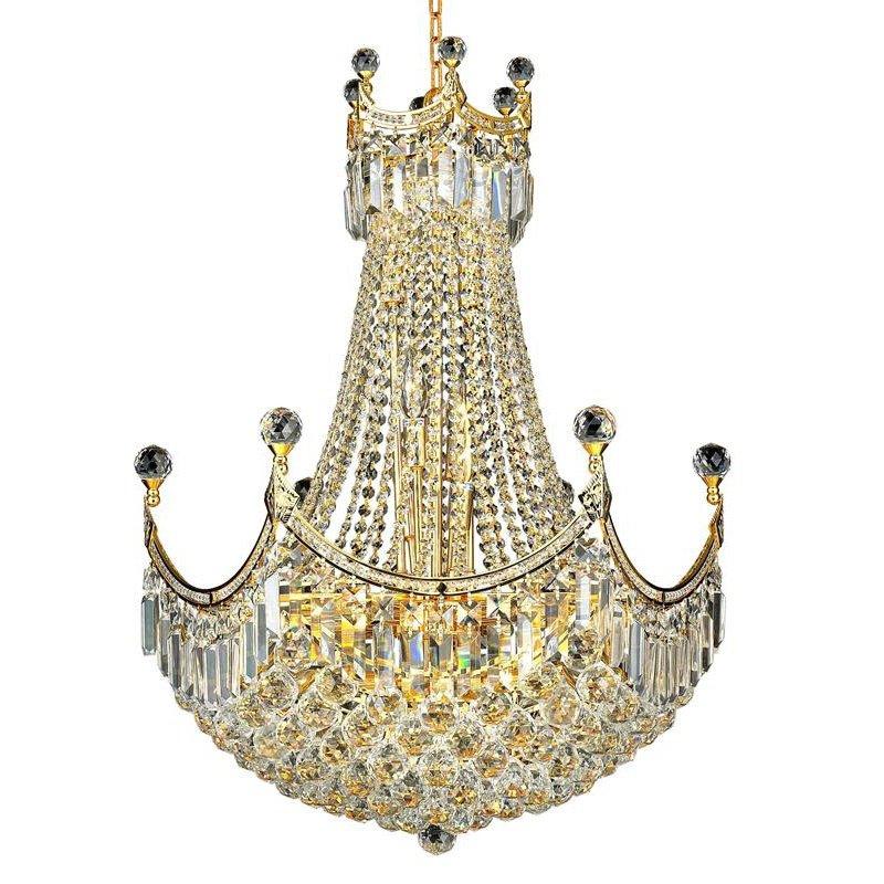 Elegant Lighting Value Corona 18 Light Gold Chandelier Clear Royal Cut Crystal (V8949D24G/RC)