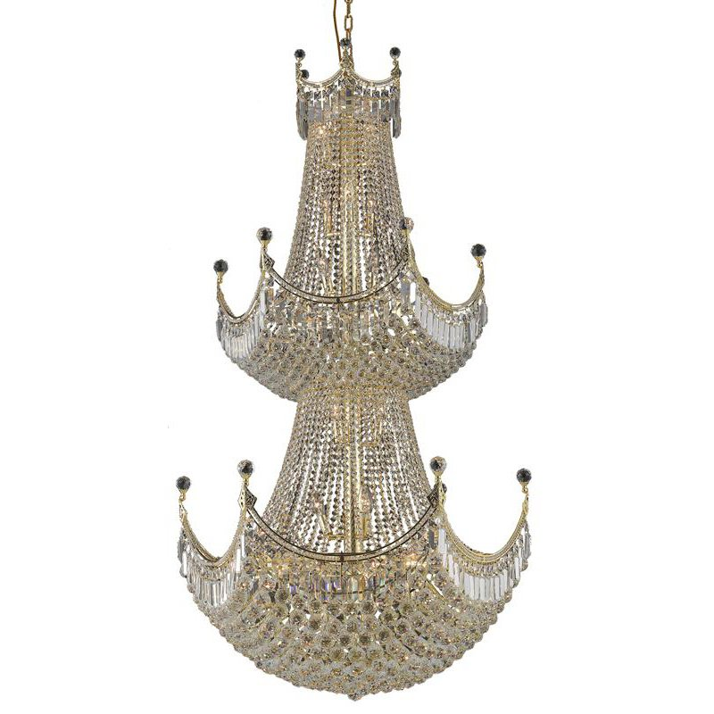 Elegant Lighting Value Corona 36 Light Gold Chandelier Clear Swarovski Elements Crystal (V8949G36G/SS)