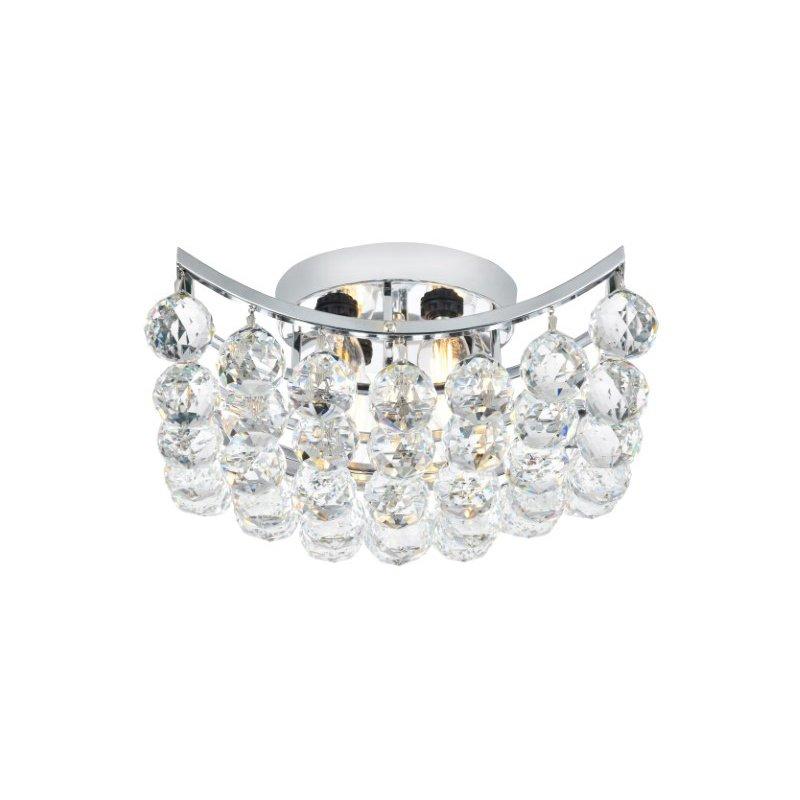 Elegant Lighting Value Corona 4 Light Chrome Flush Mount Clear Elegant Cut Crystal (V9800F12C/EC)