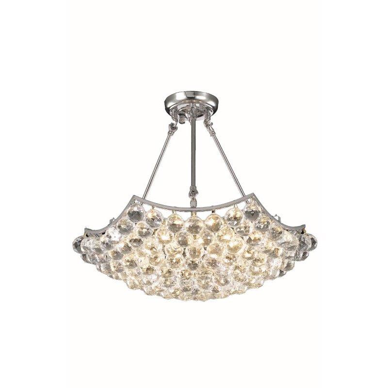 Elegant Lighting Value Corona 6 Light Chrome Chandelier Clear Swarovski Elements Crystal (V9802D22C/SS)