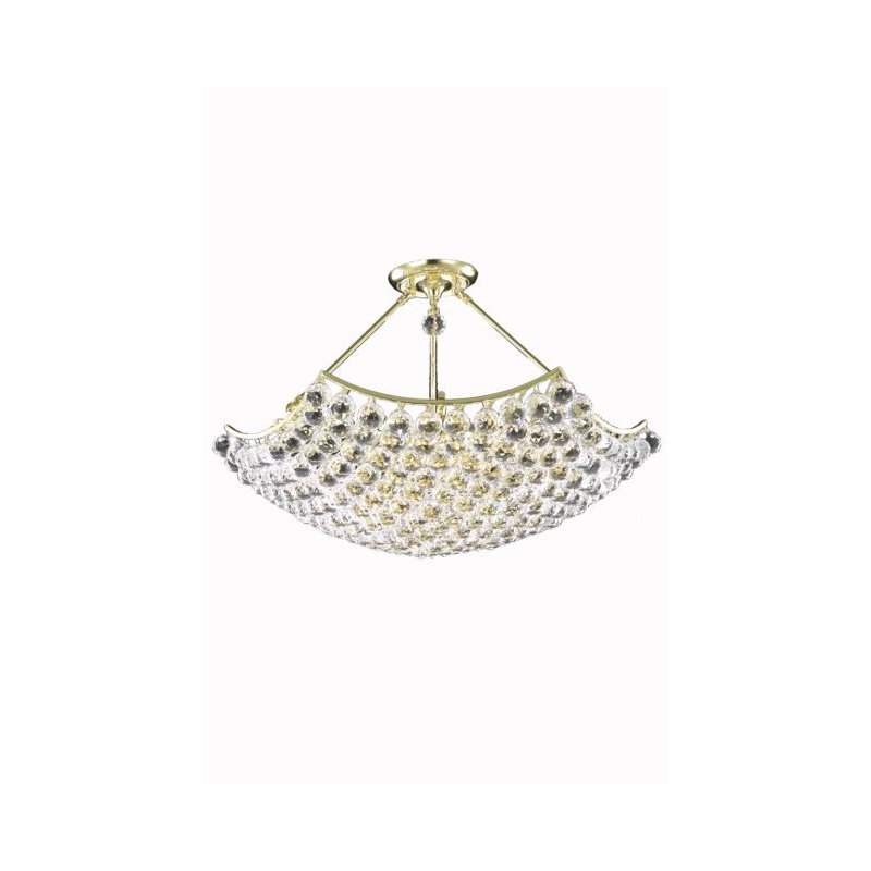 Elegant Lighting Value Corona 8 Light Gold Chandelier Clear Swarovski Elements Crystal (V9802D30G/SS)
