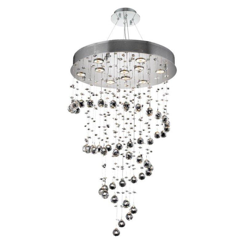 Elegant Lighting Value Galaxy 10 Light Chrome Chandelier Clear Swarovski Elements Crystal (V2024D24C/SS)