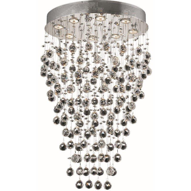 Elegant Lighting Value Galaxy 8 Light Chrome Chandelier Clear Swarovski Elements Crystal (V2022D24C/SS)