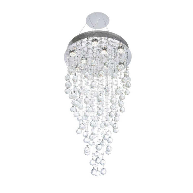 Elegant Lighting Value Galaxy 9 Light Chrome Chandelier Clear Elegant Cut Crystal (V2006D20C/EC)