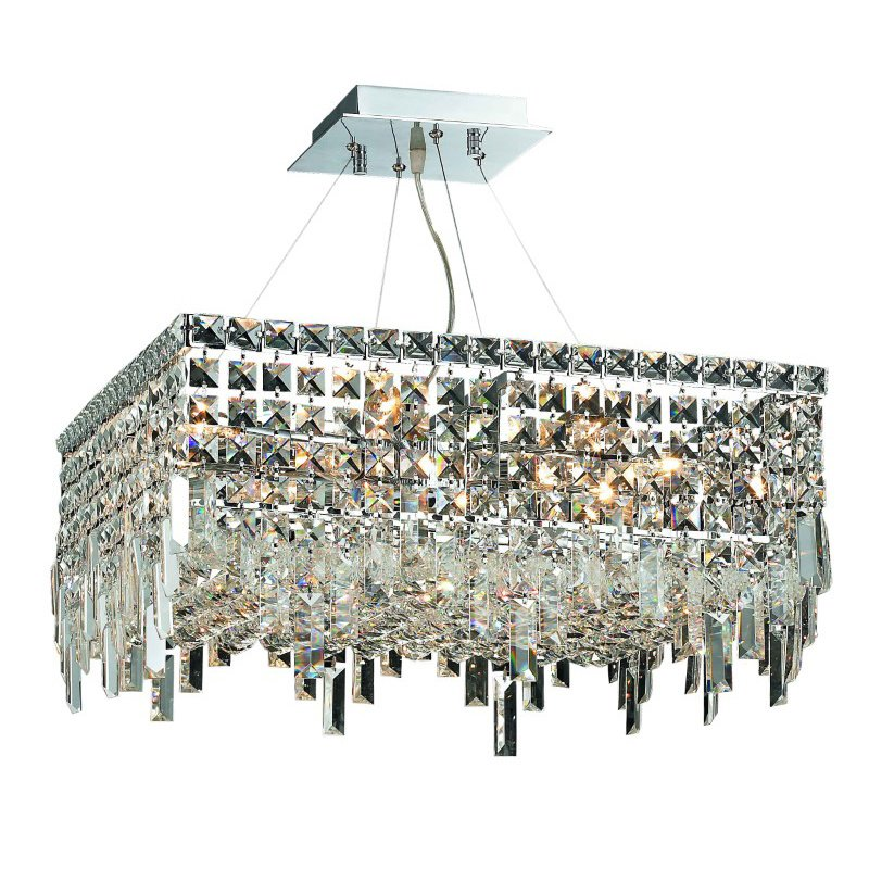 Elegant Lighting Value Maxime 12 Light Chrome Chandelier Clear Elegant Cut Crystal (V2033D20C/EC)