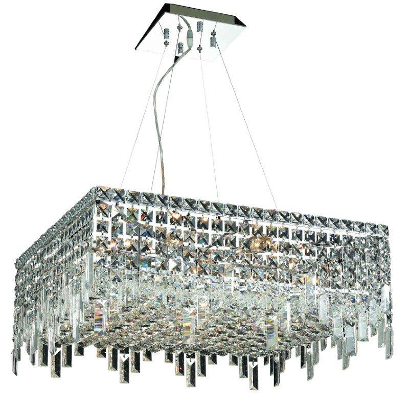 Elegant Lighting Value Maxime 12 Light Chrome Chandelier Clear Elegant Cut Crystal (V2033D24C/EC)