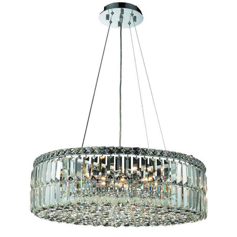Elegant Lighting Value Maxime 12 Light Chrome Chandelier Clear Spectra Swarovski Crystal (V2030D24C/SA)