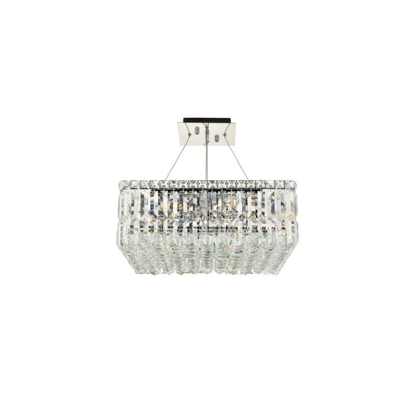 Elegant Lighting Value Maxime 12 Light Chrome Chandelier Clear Spectra Swarovski Crystal (V2032D20C/SA)