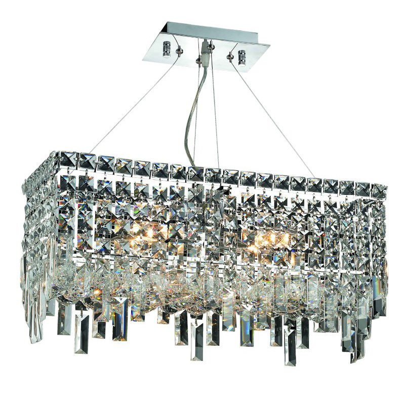 Elegant Lighting Value Maxime 4 Light Chrome Chandelier Clear Royal Cut Crystal (V2035D20C/RC)