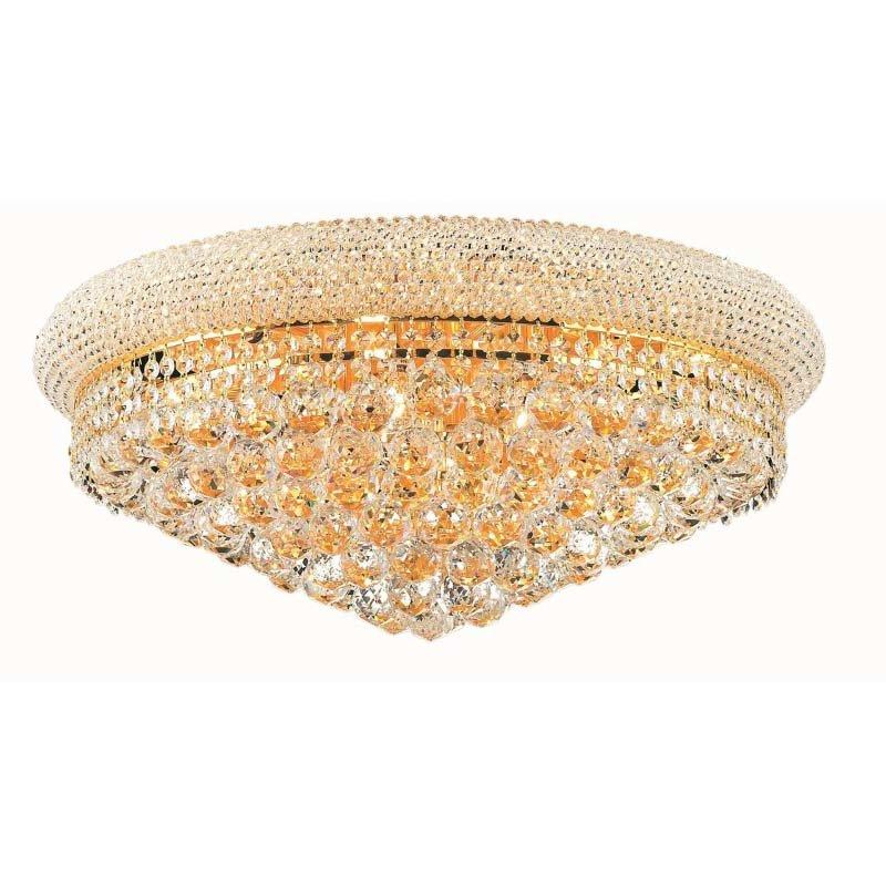 Elegant Lighting Value Primo 12 Light Gold Flush Mount Clear Swarovski Elements Crystal (V1800F24G/SS)