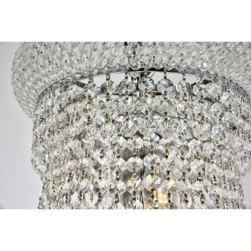 Elegant Lighting Value Primo 14 Light Chrome Chandelier Clear Royal Cut Crystal (V1800D28C/RC)