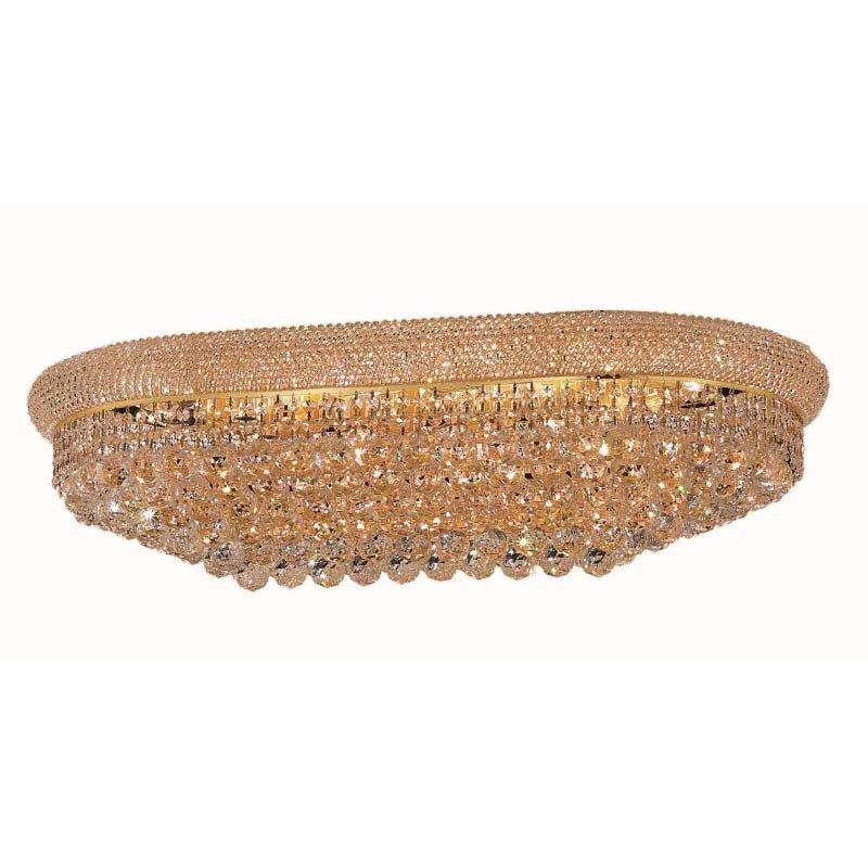 Elegant Lighting Value Primo 18 Light Gold Flush Mount Clear Elegant Cut Crystal (V1800F36SG/EC)