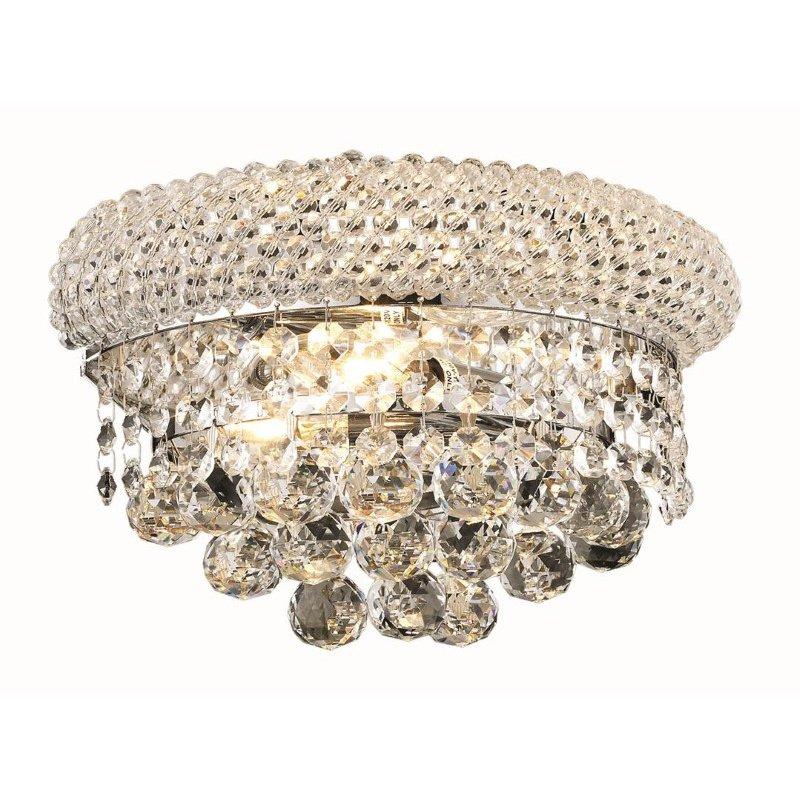 Elegant Lighting Value Primo 2 Light Chrome Wall Sconce Clear Royal Cut Crystal (V1800W12C/RC)