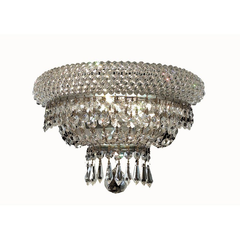 Elegant Lighting Value Primo 2 Light Chrome Wall Sconce Clear Royal Cut Crystal (V1803W12C/RC)