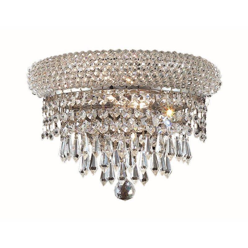Elegant Lighting Value Primo 2 Light Chrome Wall Sconce Clear Spectra Swarovski Crystal (V1802W12C/SA)