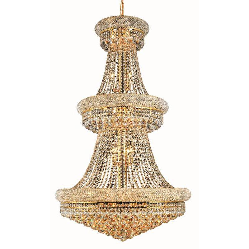 Elegant Lighting Value Primo 32 Light Gold Chandelier Clear Elegant Cut Crystal (V1800G30G/EC)