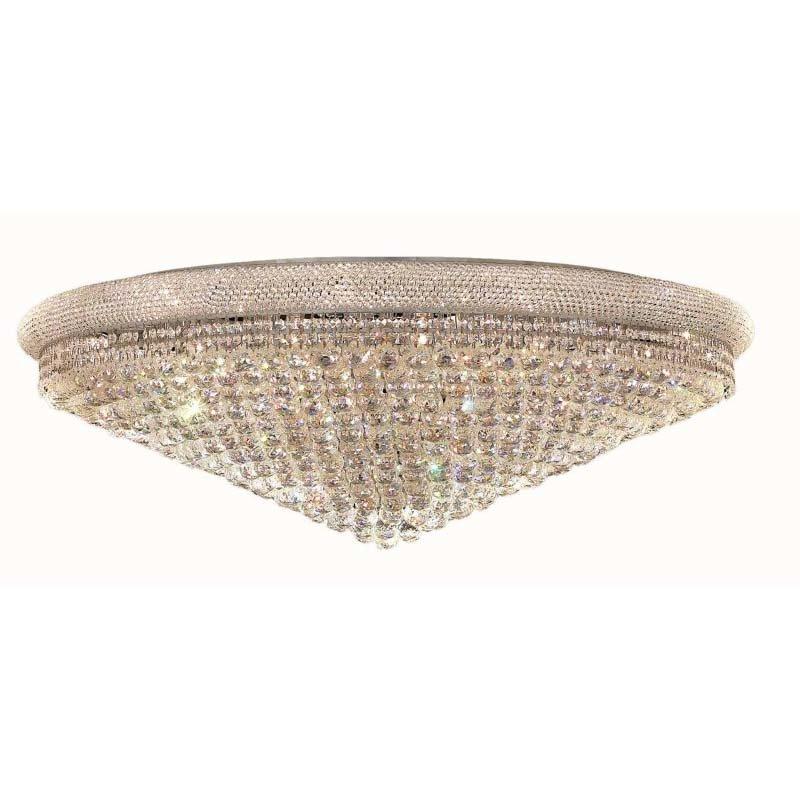 Elegant Lighting Value Primo 33 Light Chrome Flush Mount Clear Elegant Cut Crystal (V1800F48C/EC)