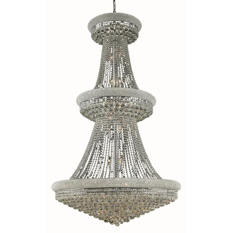Elegant Lighting Value Primo 38 Light Chrome Chandelier Clear Royal Cut Crystal (V1800G42C/RC)