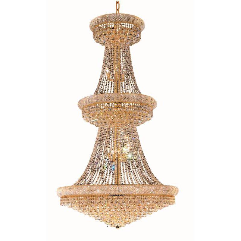Elegant Lighting Value Primo 38 Light Gold Chandelier Clear Royal Cut Crystal (V1800G42G/RC)