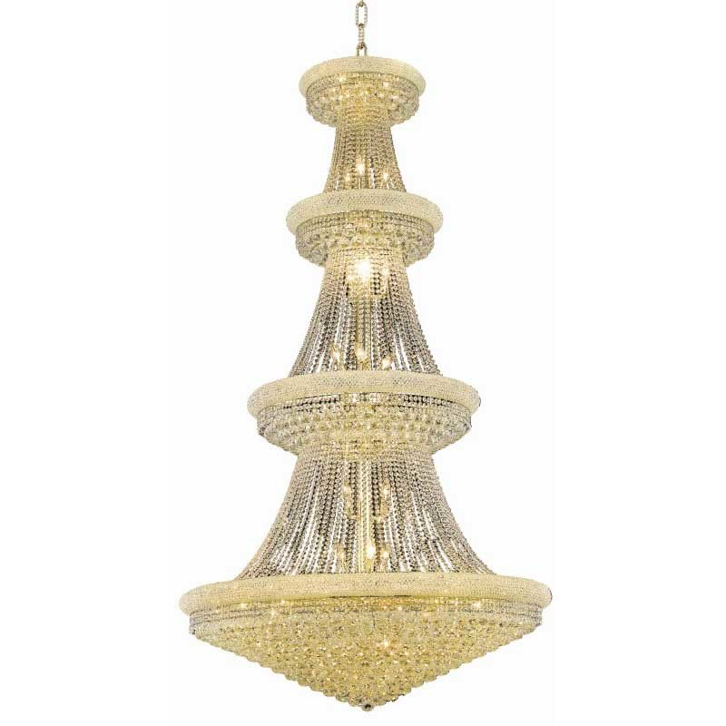 Elegant Lighting Value Primo 42 Light Gold Chandelier Clear Spectra Swarovski Crystal (V1800G48G/SA)