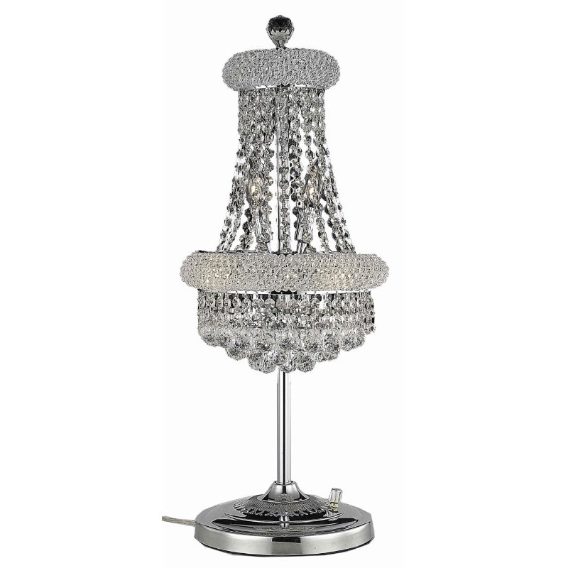 Elegant Lighting Value Primo 6 Light Chrome Table Lamp Clear Swarovski Elements Crystal (V1800TL12C/SS)