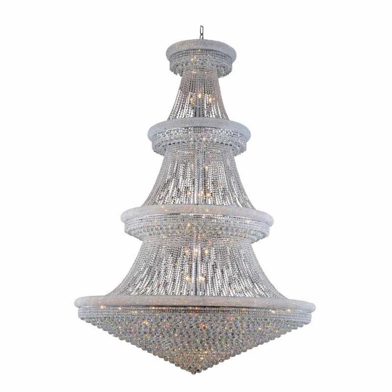 Elegant Lighting Value Primo 66 Light Chrome Chandelier Clear Swarovski Elements Crystal (V1800G72C/SS)