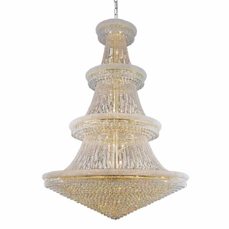 Elegant Lighting Value Primo 66 Light Gold Chandelier Clear Elegant Cut Crystal (V1800G72G/EC)