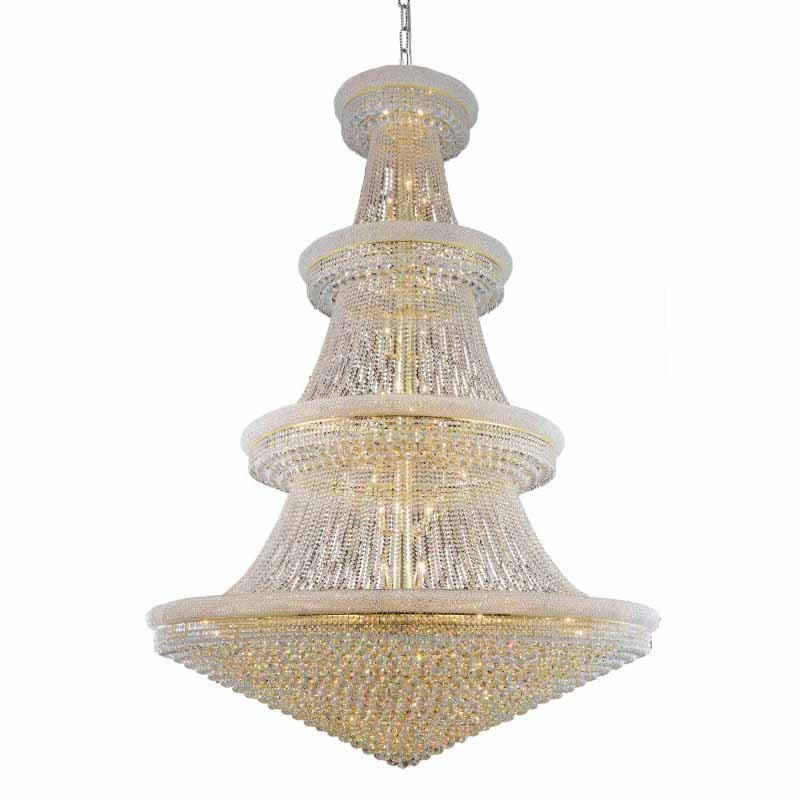 Elegant Lighting Value Primo 66 Light Gold Chandelier Clear Royal Cut Crystal (V1800G72G/RC)