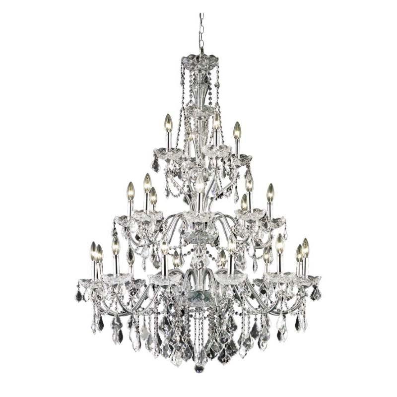 Elegant Lighting Value St. Francis 24 Light Chrome Chandelier Clear Swarovski Elements Crystal (V2015G36C/SS)