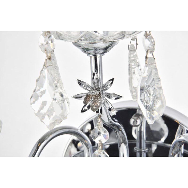 Elegant Lighting Value St. Francis 3 Light Chrome Wall Sconce Clear Spectra Swarovski Crystal (V2015W3C/SA)