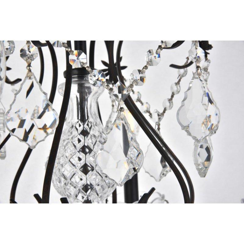 Elegant Lighting Value St. Francis 6 Light Dark Bronze Chandelier Clear Spectra Swarovski Crystal (V2015D24DB/SA)