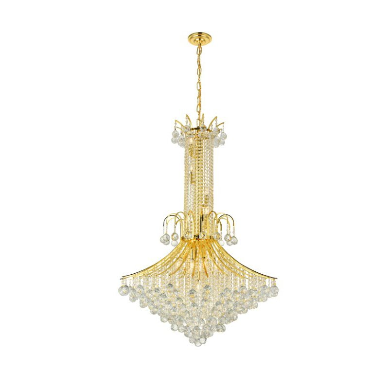 Elegant Lighting Value Toureg 16 Light Gold Chandelier Clear Royal Cut Crystal (V8006G35G/RC)